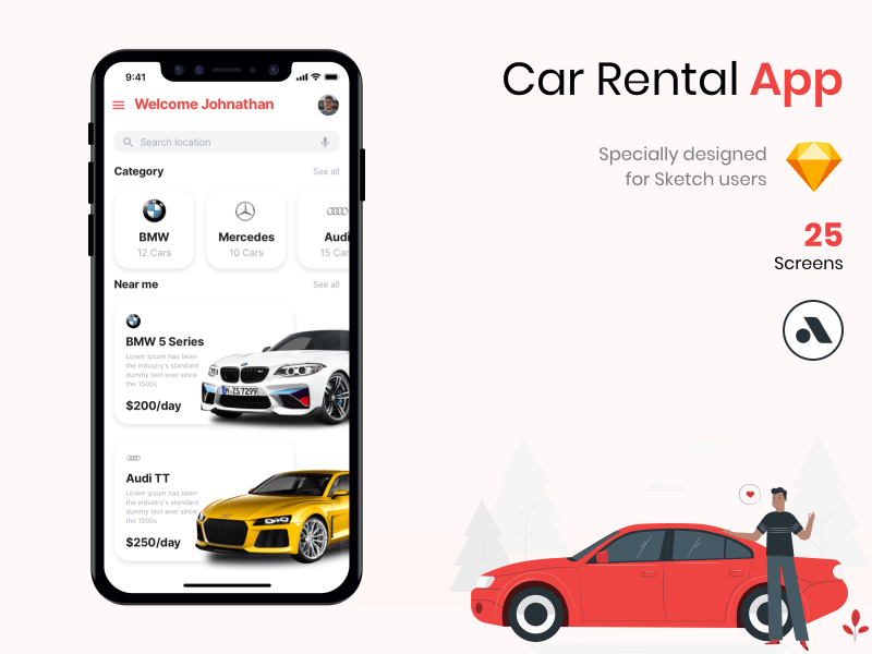 Car Rental App UI Kit