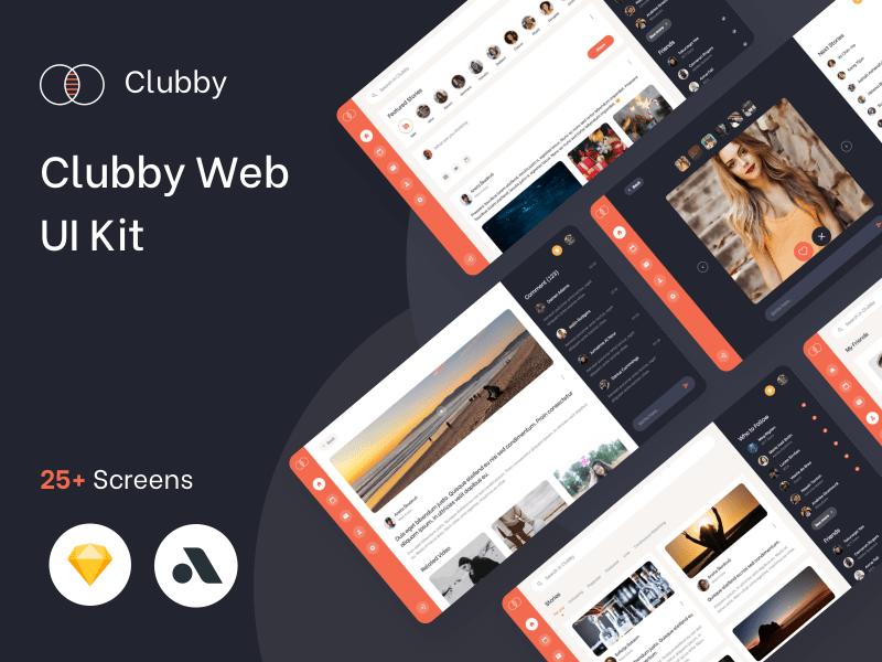 Clubby – Social UI Kit