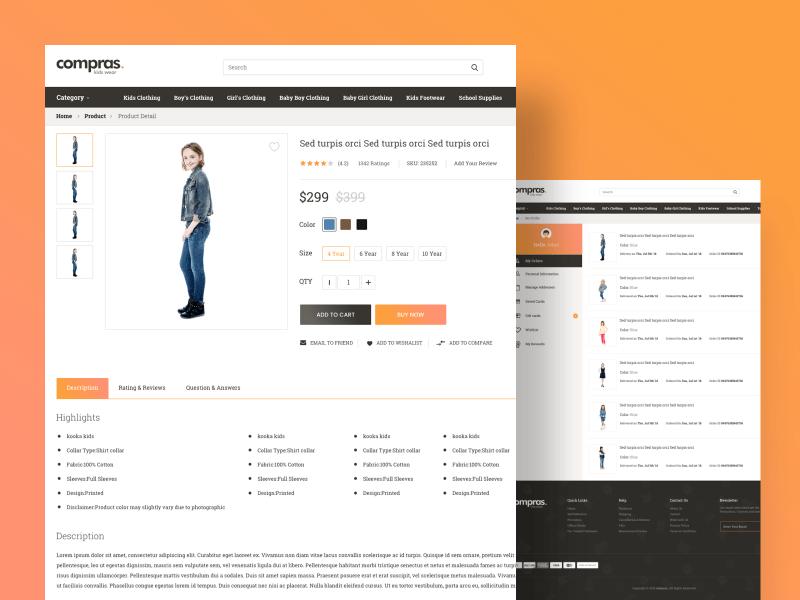 Compras – Kids Clothing E-Commerce Web UI Kit