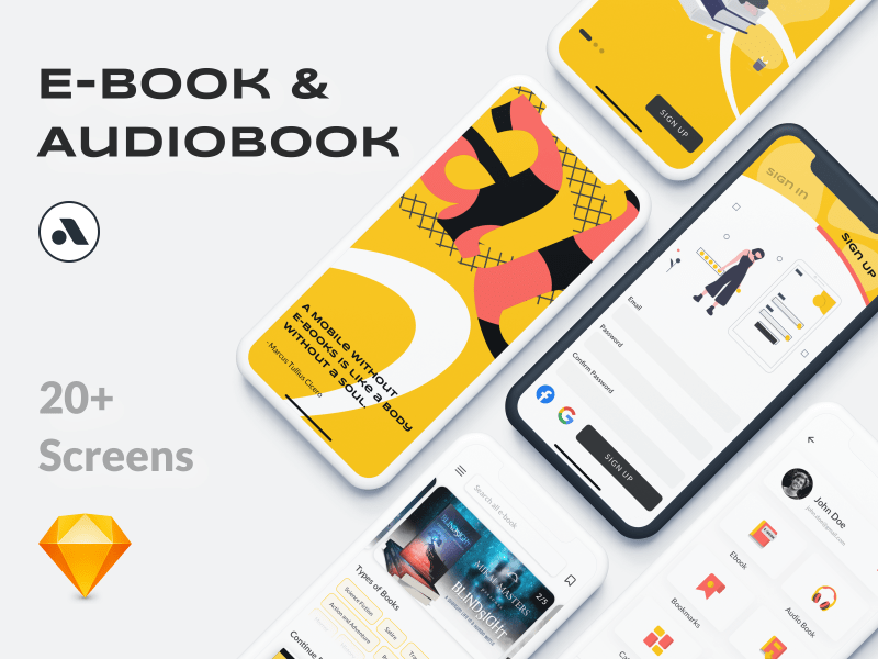 eBooks & Audio Books App UI Kit