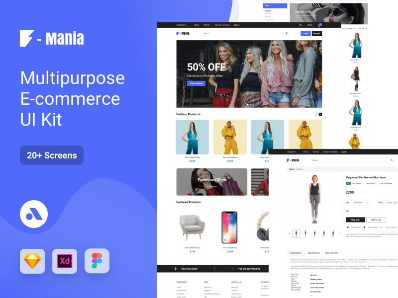 F-Mania E-commerce UI Kit