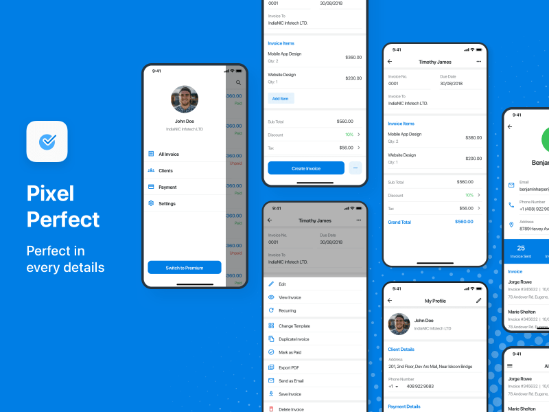 Invoice On The Go – Mobile App Design