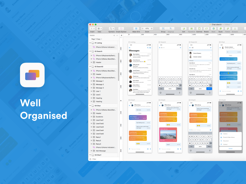 Mensaje – Messaging App UI Kit for iOS