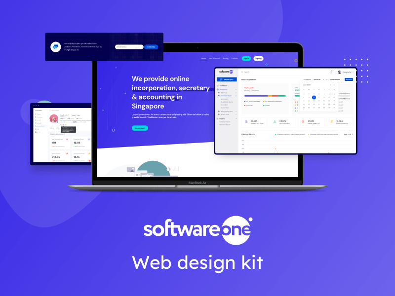 SoftwareOne – Landing page design