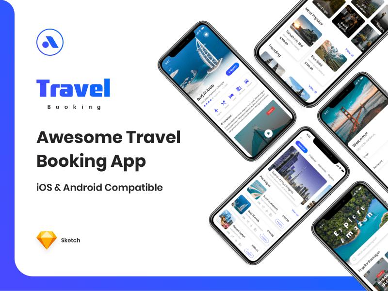 Travel Booking – App UI Kit