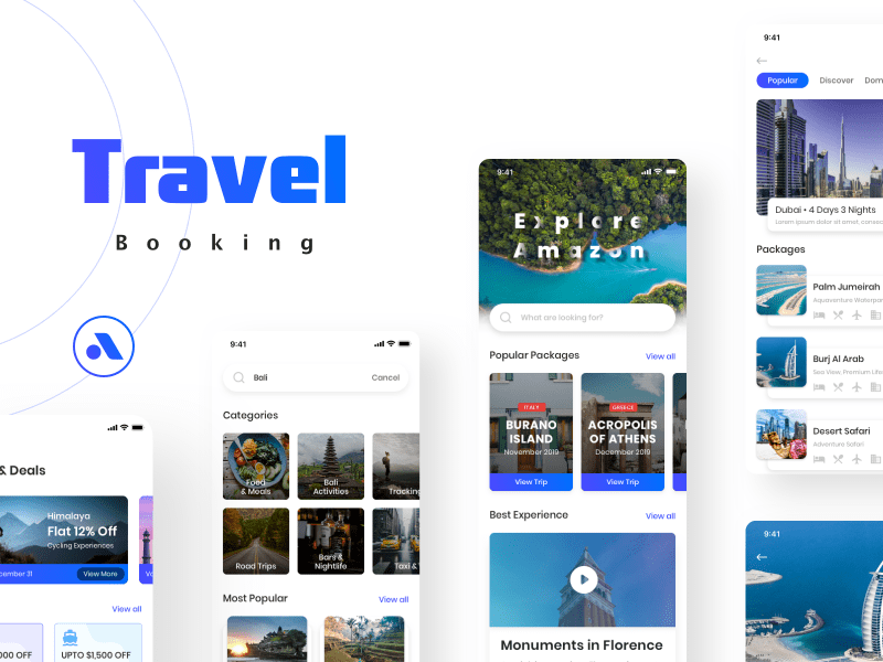 Travel Booking – App UI Kit