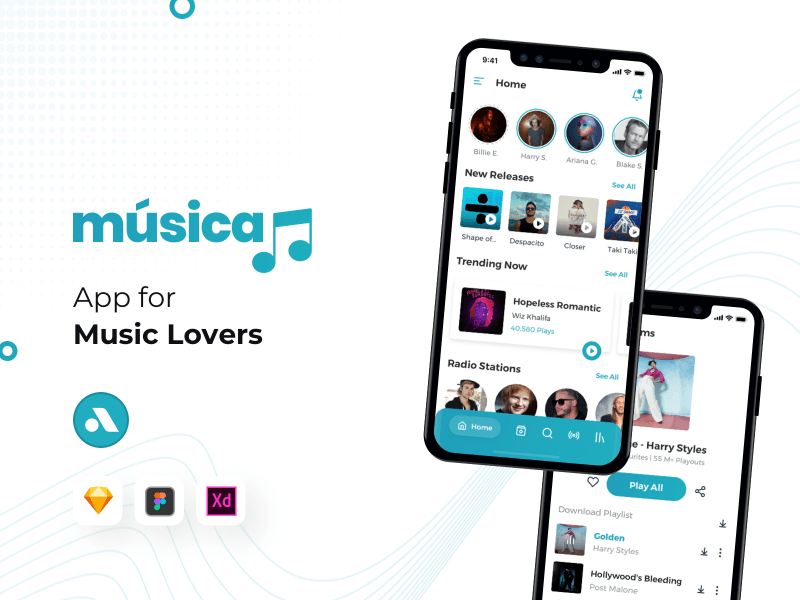 Musica – Music App UI Kit for iOS
