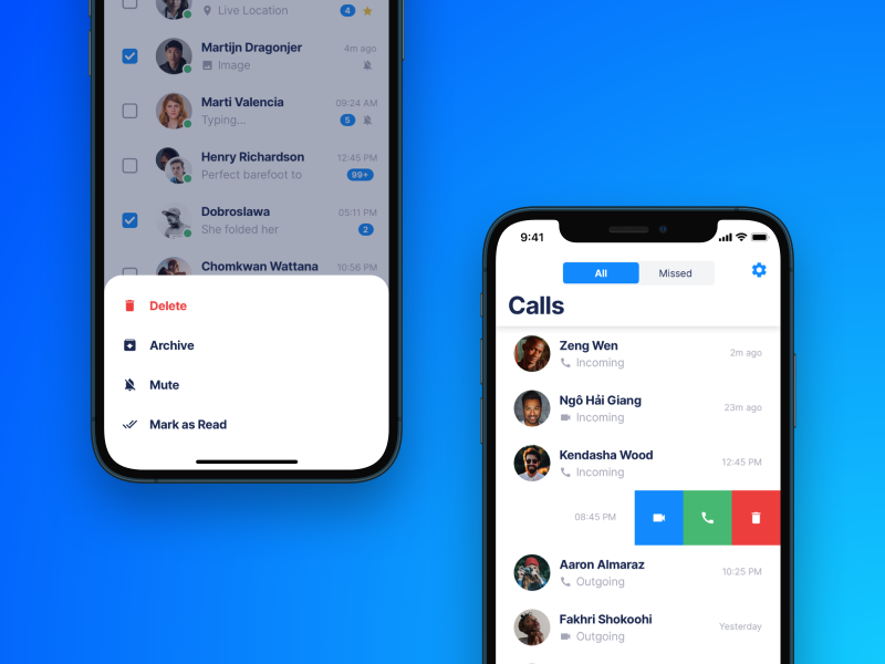 Chattr – Chat App UI Kit for iOS
